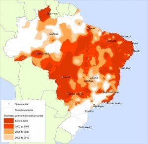 Figure-1-Expansion-of-dengue-transmission-area-in-Brazil-The-intervals-of-colours-300x293